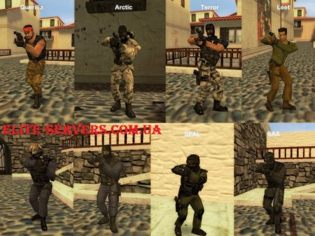 Original Counter-Strike 1.6 Player Models cs Elite